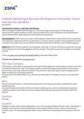 marketing business development internship dutch german