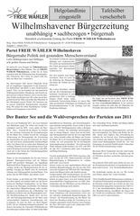 wilhelmshavener b rgerzeitung ausgabe 1 2015