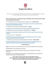comite connecte target fact sheet