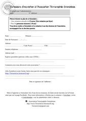 formulaire inscription pdf