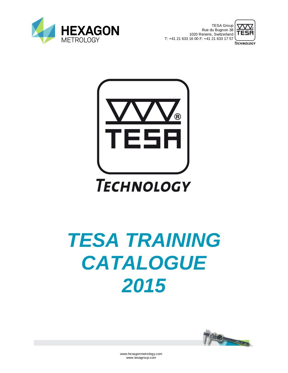 TESA Training Catalogue  descriptive 2015.pdf - page 1/7