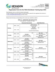 tesa trainings march 2015 registration form