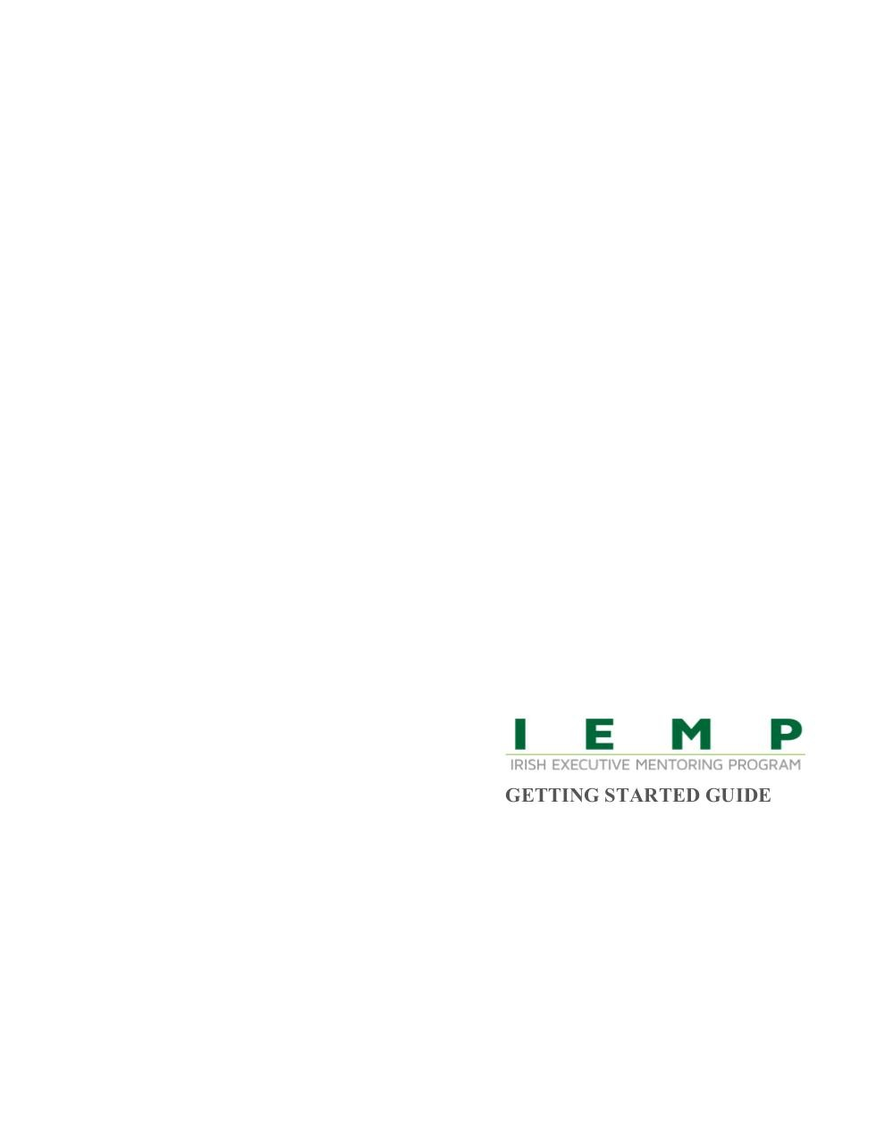 IEMP Getting Started Guide - Mentor.pdf - page 1/12