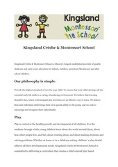 PDF Document about kingsland creche