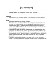 PDF Document game rules second draft
