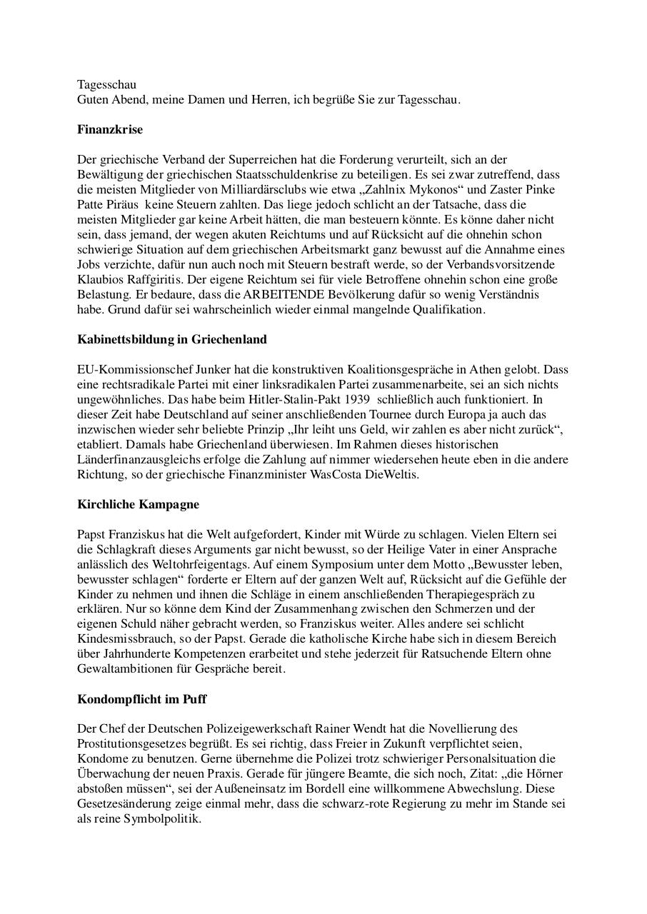 Document preview Tagesschau-Satire.pdf - page 1/2