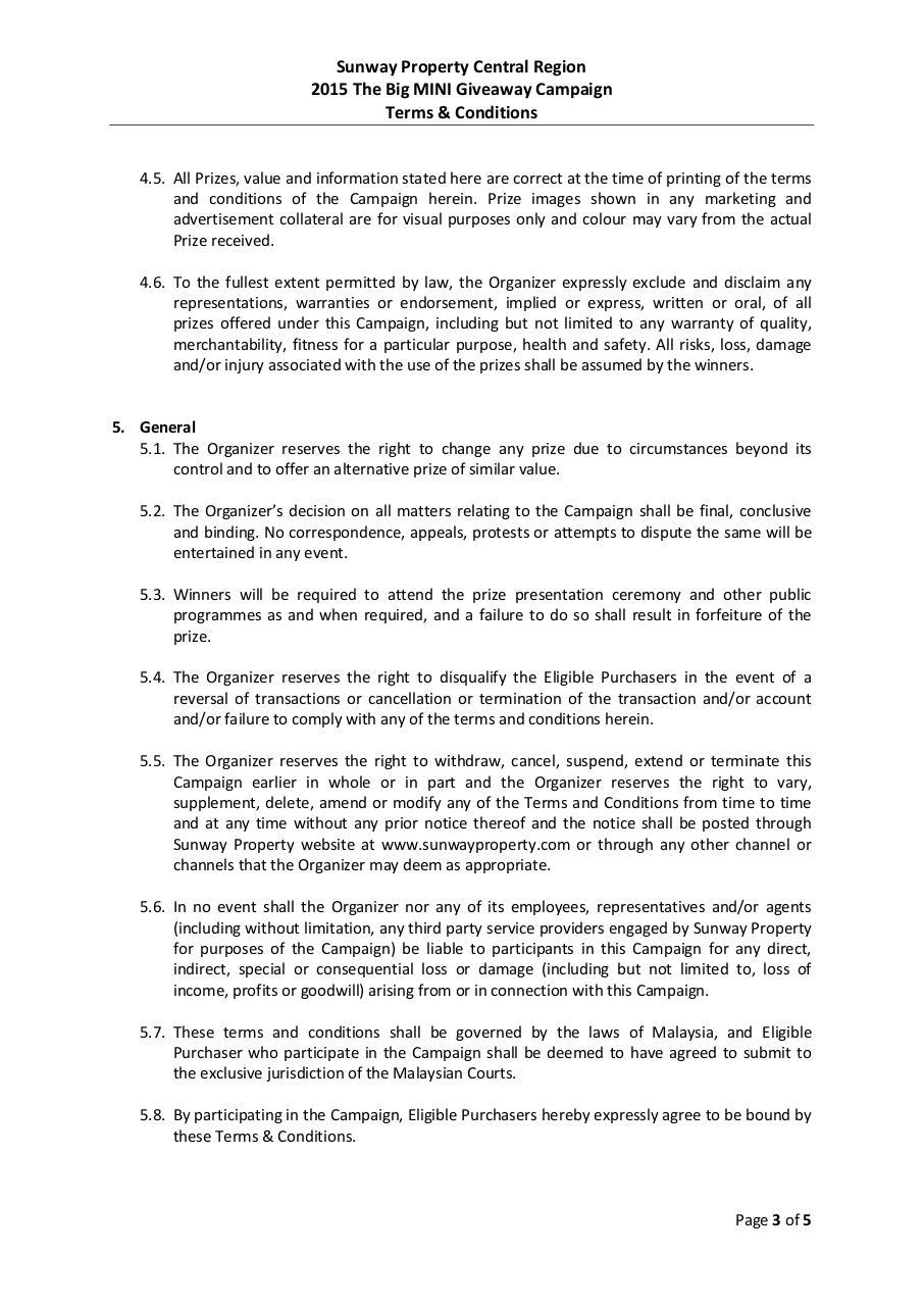 The Big MINI Giveaway Campaign Terms & Conditions.pdf - page 3/5