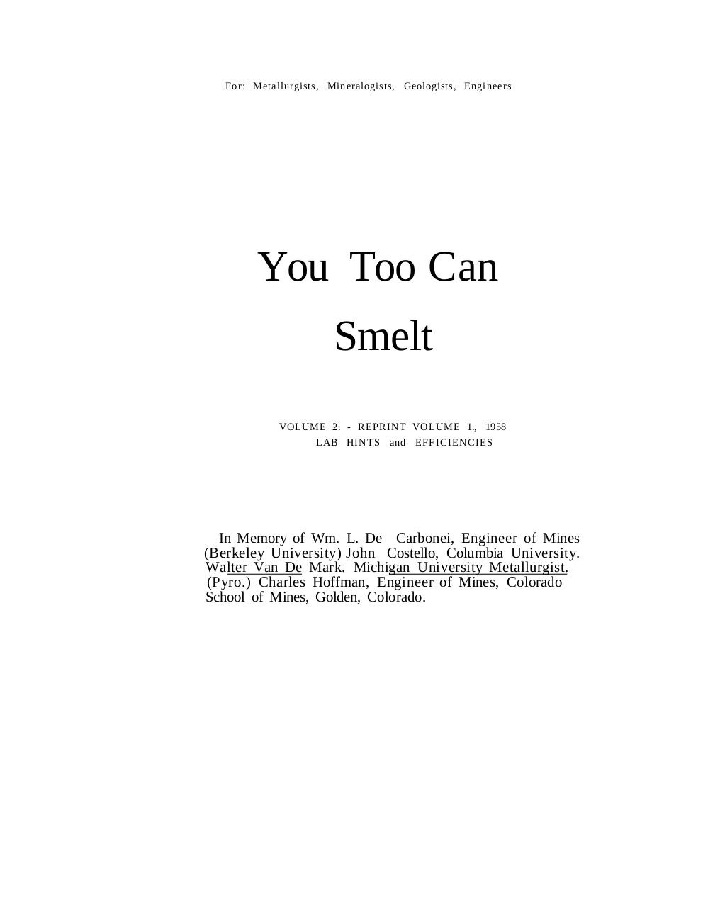 You Can Smelt Too.pdf - page 2/59