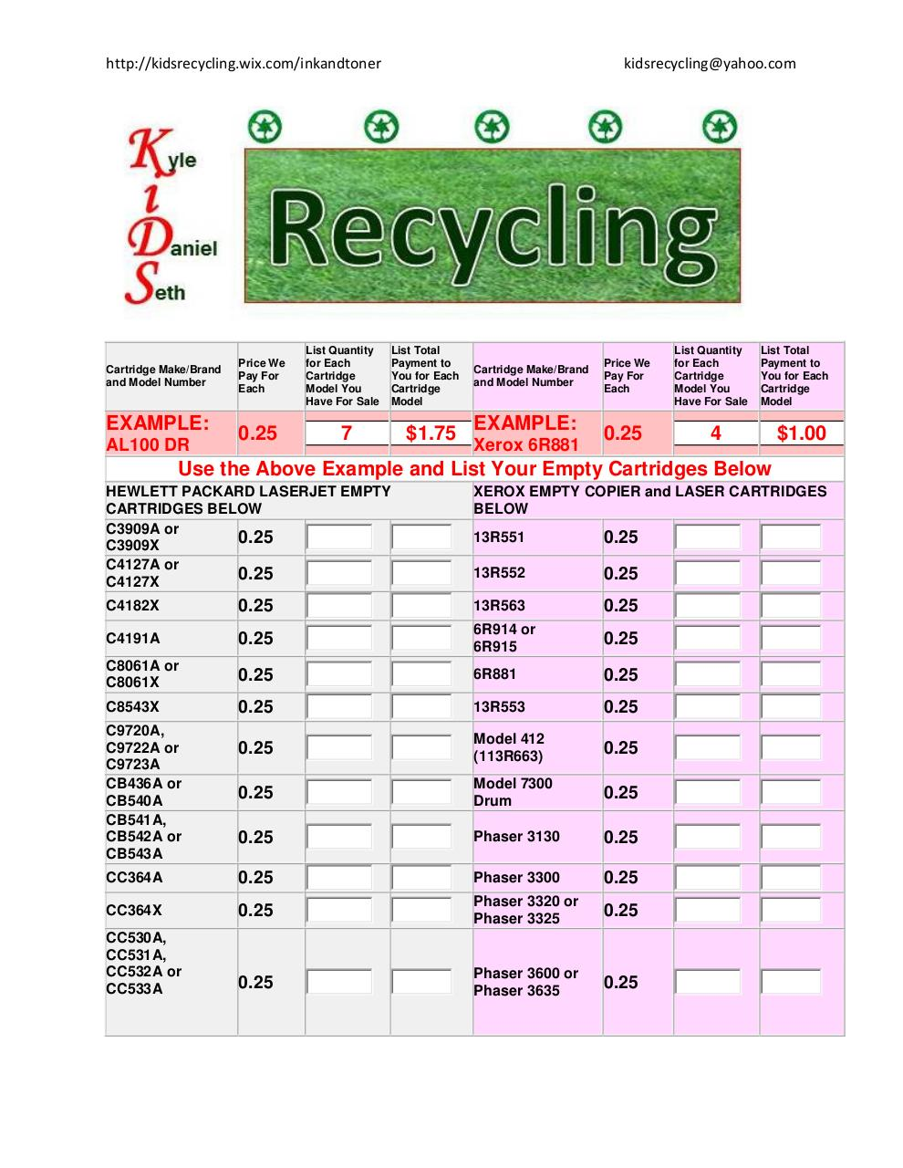 Kids Recycling Ink and Toner.pdf - page 1/8