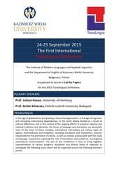translingua conference 2015 call for papers