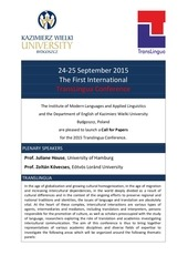translingua2015 call for papers