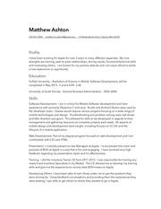 m ashton resume