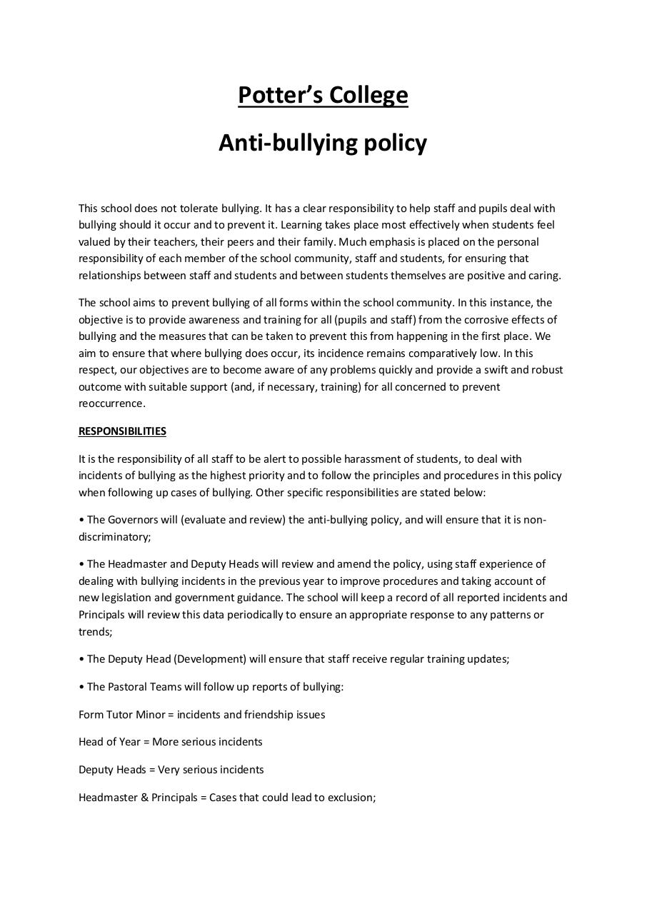 potters college antibullying.pdf - page 1/4