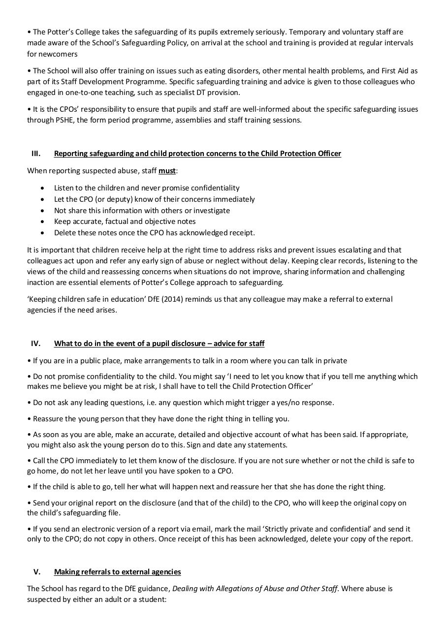 St Potter college safeguarding policy.pdf - page 3/7