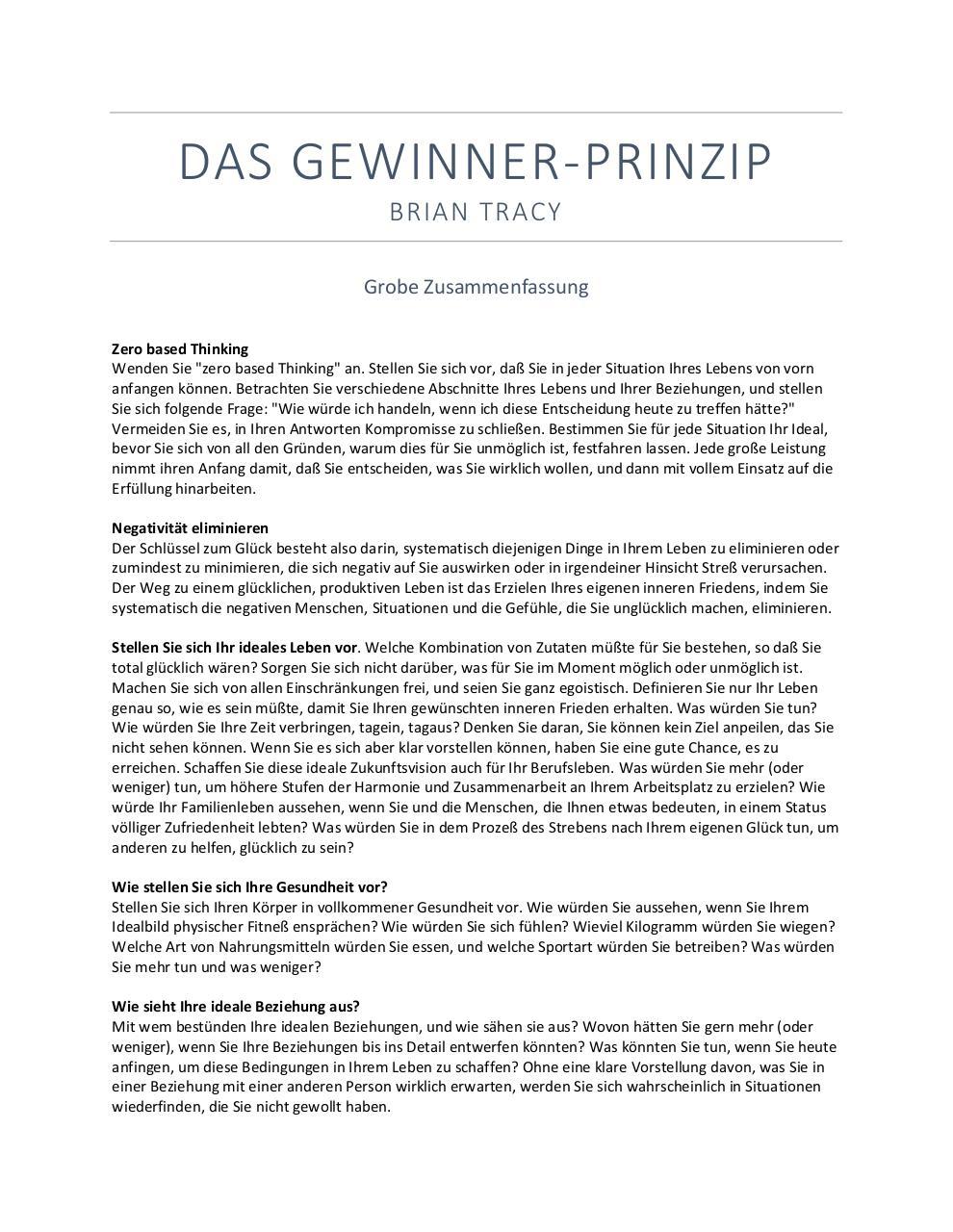 Gewinner Prinzip Zusammenfassung by kmatth@aol.com - PDF Archive