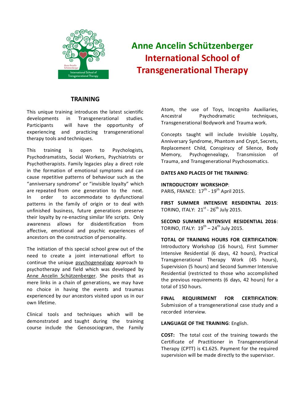 FLYER SCHOOL TRANSGENERATIONAL THERAPY.pdf - page 1/3