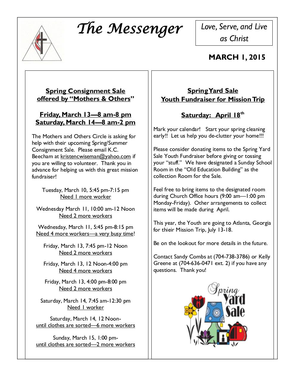 MHUMC_Newsletter_March2015.pdf - page 1/11