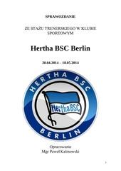 sprawozdanie hertha bsc 1