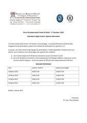 calendario preparazione esami di stato