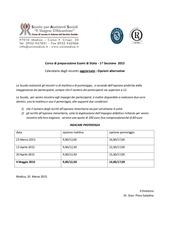 calendario preparazione esami di stato aggiornato