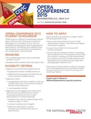 opera conference student scholarship