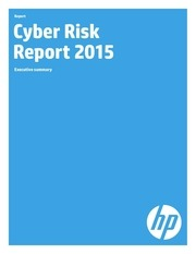hp cyber risk report 2015 executive summary
