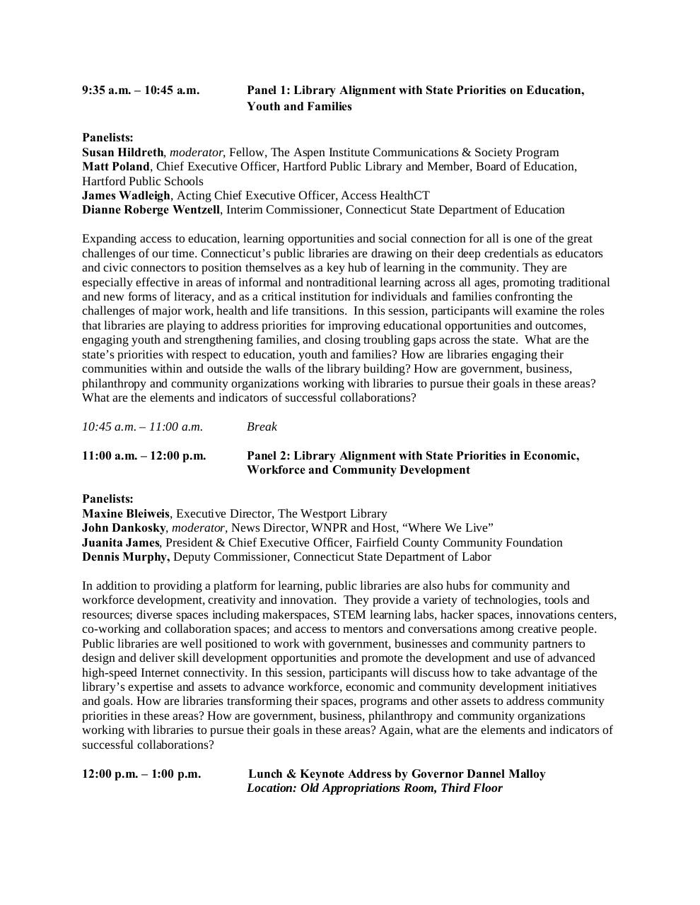 CT Dialogue on Libraries Tentative Public Agenda 3.20.15.pdf - page 2/2