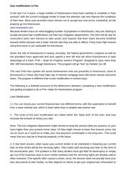 loan modification vs fha 1160
