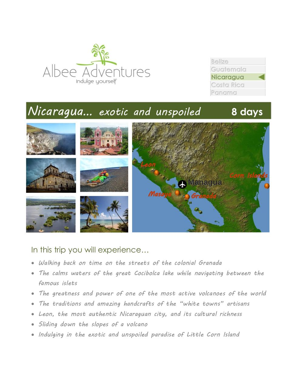 Nicaragua exotic and unspoiled - 8 days.pdf - page 1/9