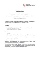 PDF Document stellenausschreibung mitarbeit qual 2015