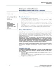 moderating volatility and equity exposures