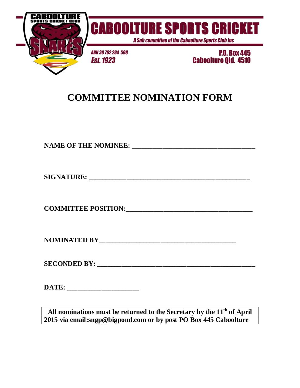 committee nomination form by geoff hart