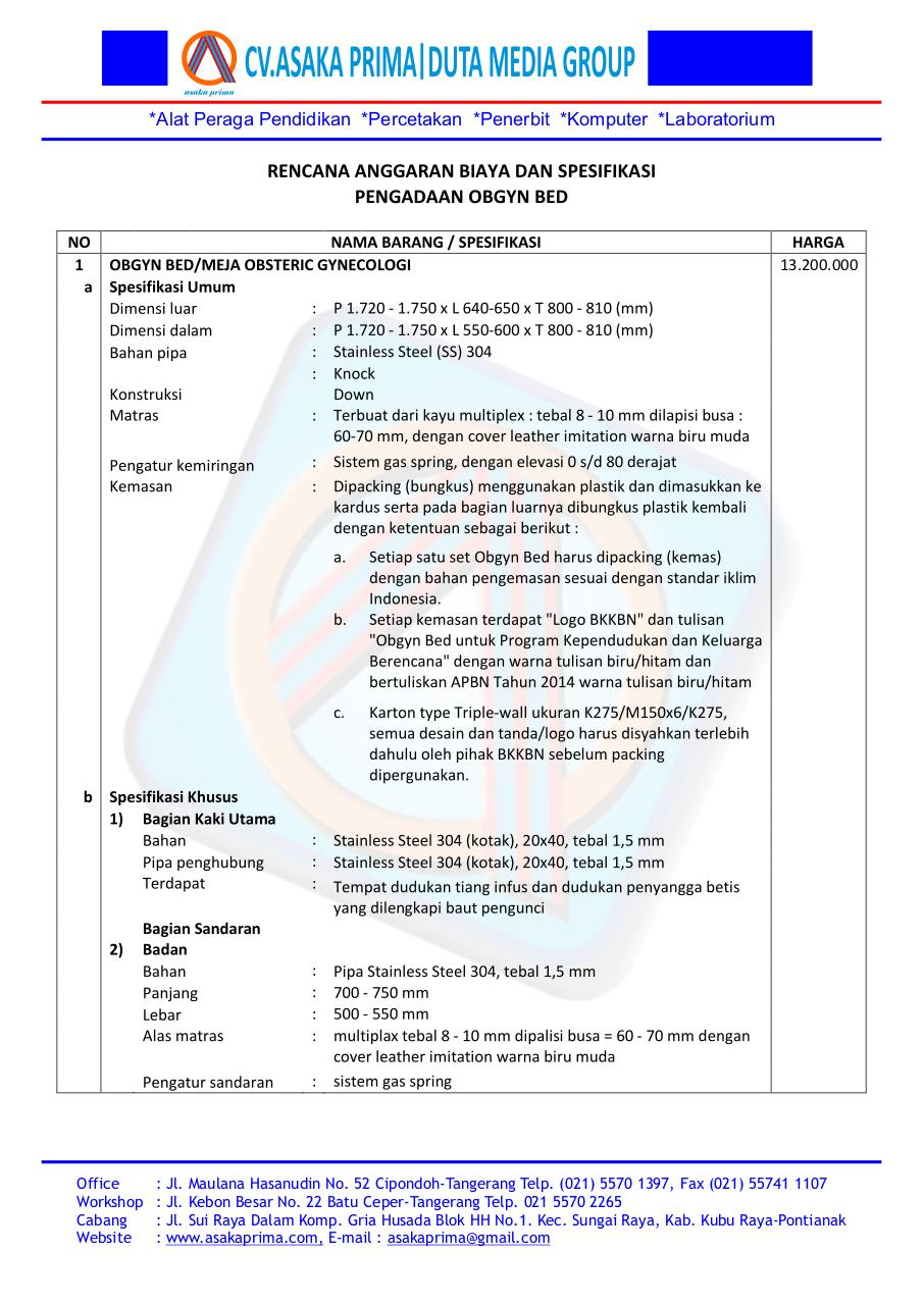 Unusual 1 Page Resume Format For Freshers Tiny 1099 Invoice Template Flat 2 Page Resume Sample 2 Panel Brochure Template Old 2014 Blogger Templates Gray2014 Diary Template 7) OB (CV.ASAKA PRIMA JUAL OBGYN BED DAK BKKBN 2015