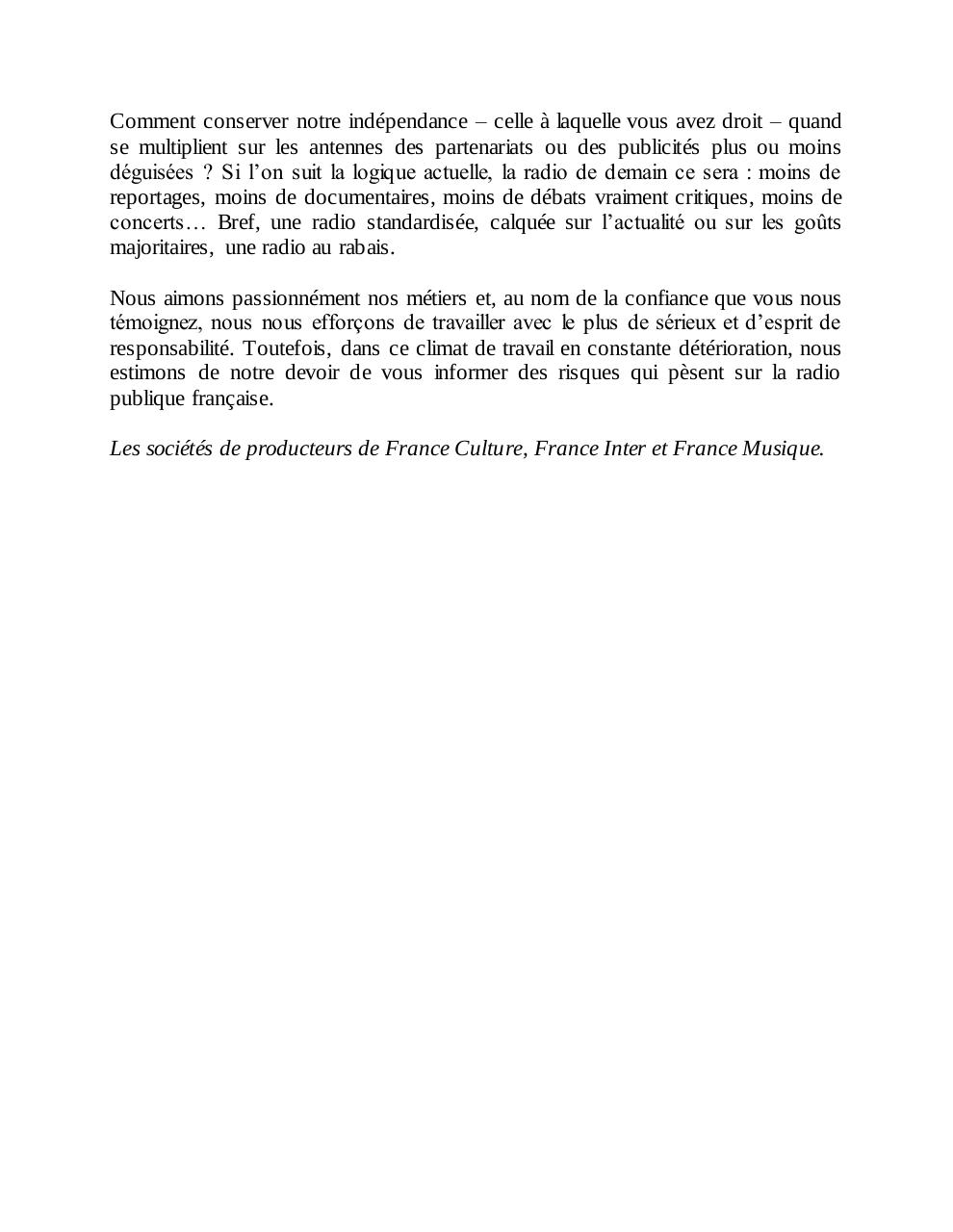 Document preview Lettre aux auditeurs de Radio France (def).pdf - page 2/2