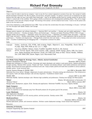 richard paul bronosky resume