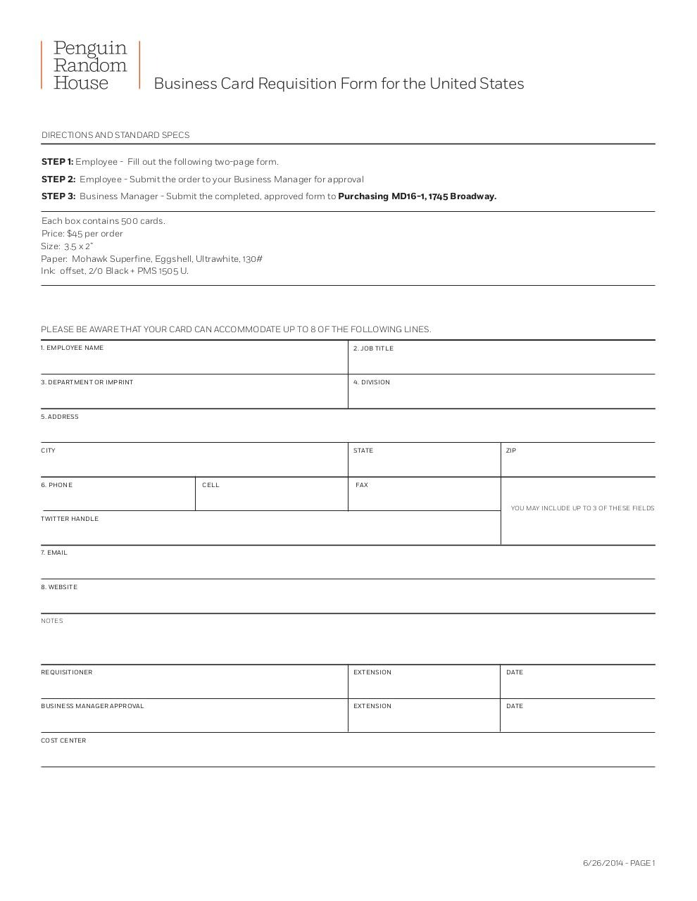 PRH_BC_Directions2.indd (US_Business Card Request Form_Final_6-26-14 ...