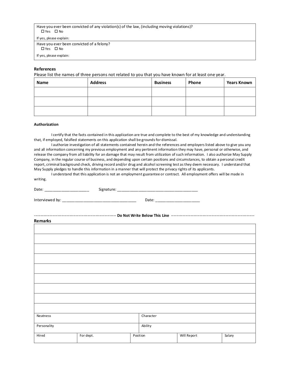 Document preview Application-for-Employment1-2.pdf - page 2/2