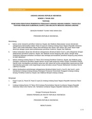 uu 01 th 2015 penetapan peraturan pemerintah 1 2014