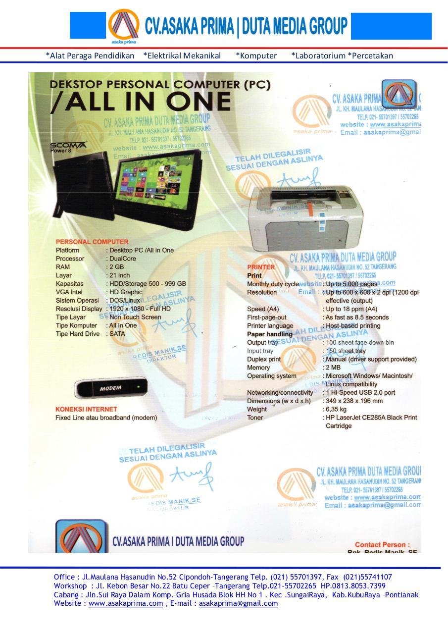 PERSONAL COMPUTER BKKbN 2015 ~   DEKSTOP PC BKKbN 2015