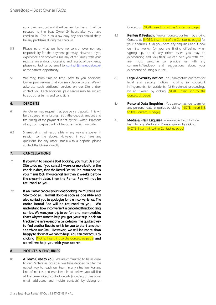 Document preview ShareBoat - Boat Renter FAQs v 1.3 17-03-15 FINAL.pdf - page 2/2