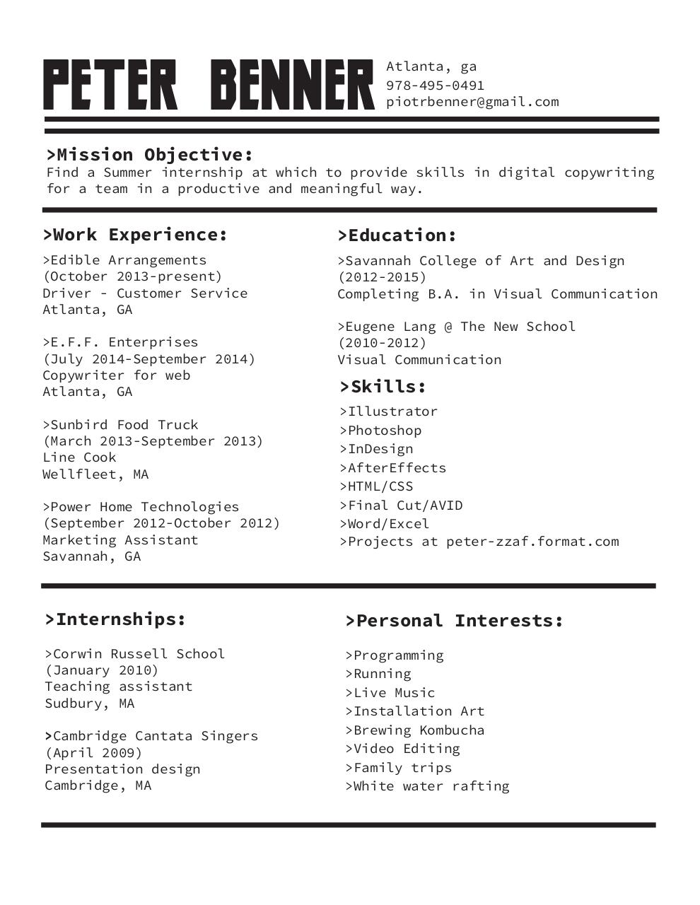 resume april 2015 pdf archive