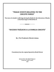 book tragic events relating to the chicote family