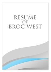 broc west resume 2015