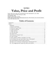 value price profit