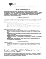 principles of professionalism