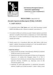regulamin rozgrywek dnia sportu wziks 2015