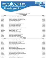 lista de precios tijuana calcom