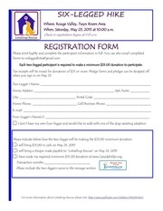 ldr six legged hike 2015 registration form