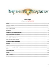 infinite odyssey patch notes