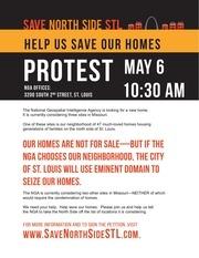save north side stl protest flyer